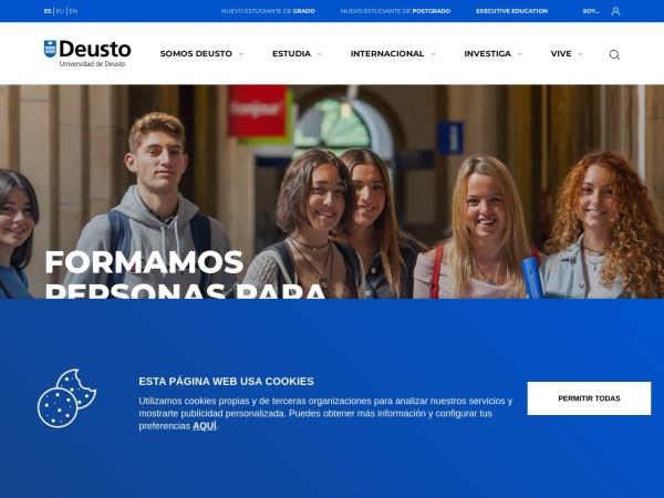 Screenshot of www.deusto.es