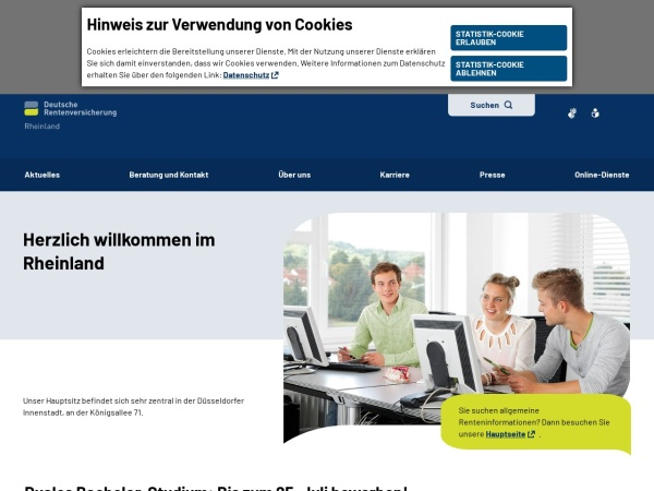 Screenshot von www.deutsche-rentenversicherung.de
