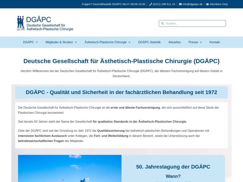 Screenshot of www.dgaepc.de