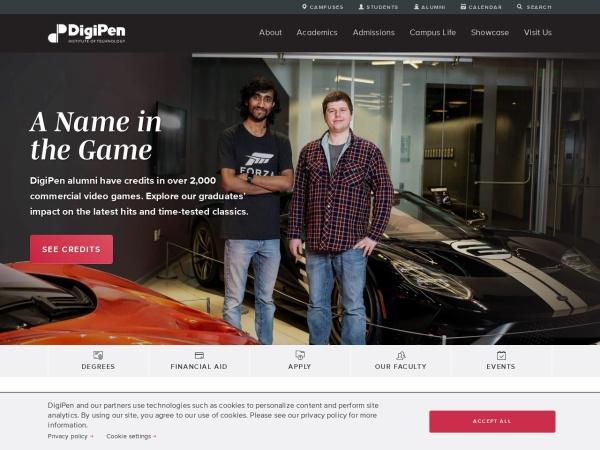 Screenshot of www.digipen.edu