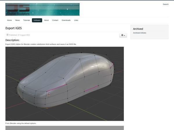 Screenshot of www.digital-sculptors.com