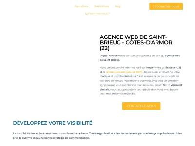 Agence web spécialisé en création de site web et en référencement à Saint-Brieuc et environ