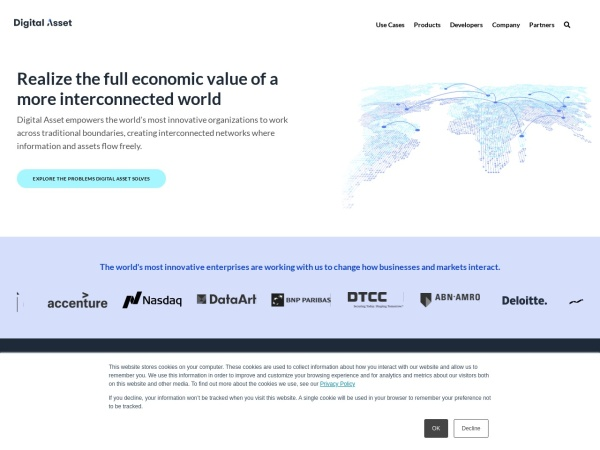 Screenshot of www.digitalasset.com