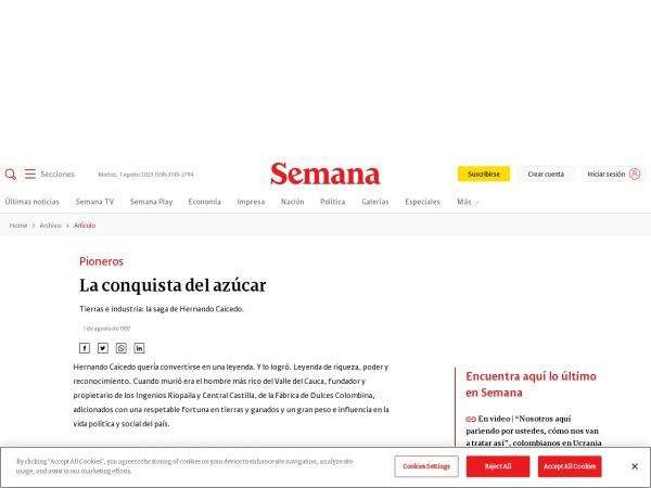 Captura de pantalla de www.dinero.com