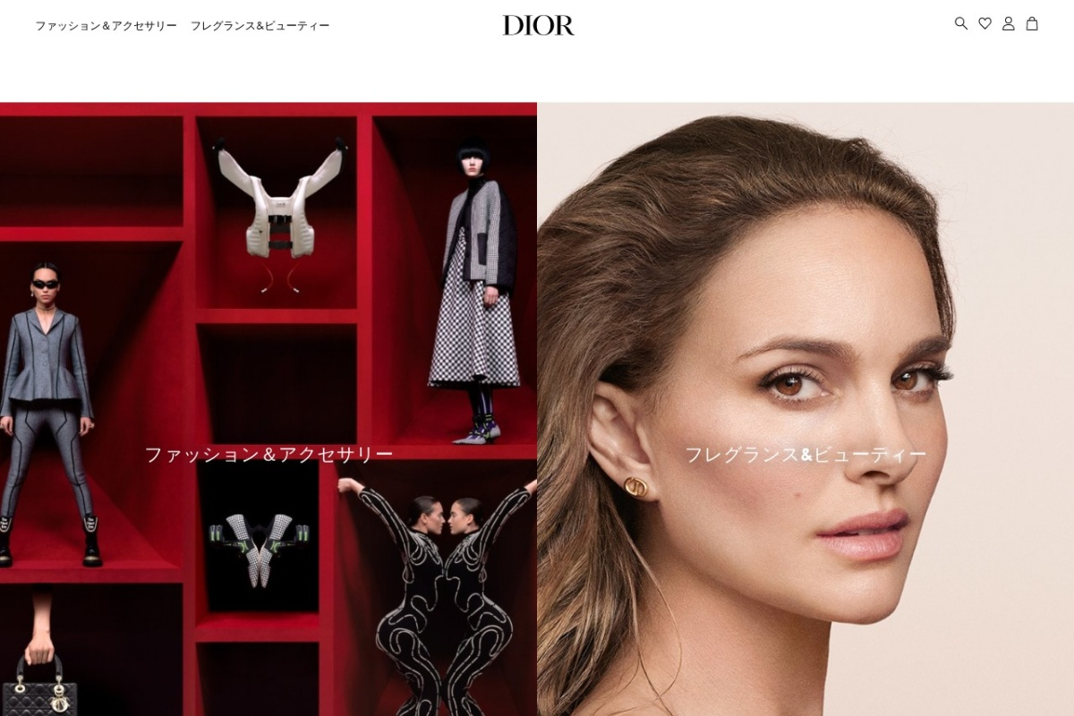 Screenshot of www.dior.com