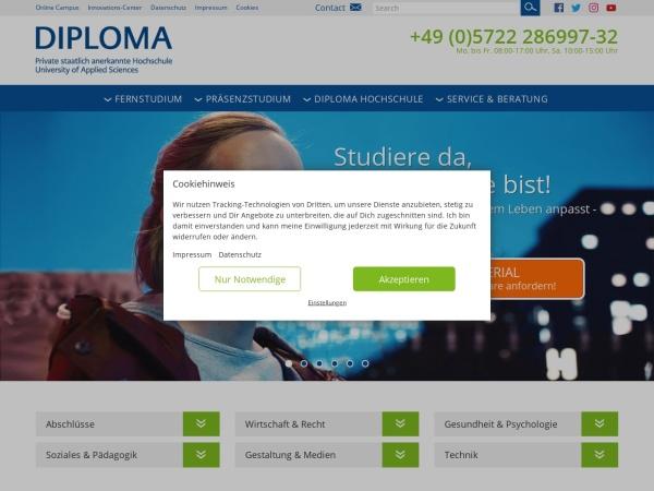 Screenshot of www.diploma.de