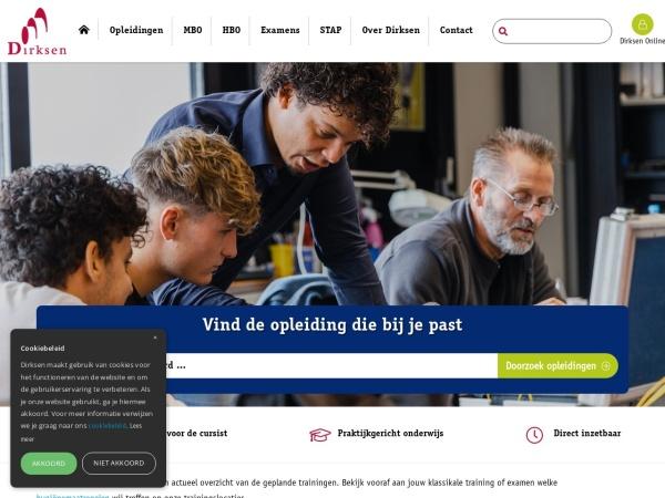 Screenshot of www.dirksen.nl
