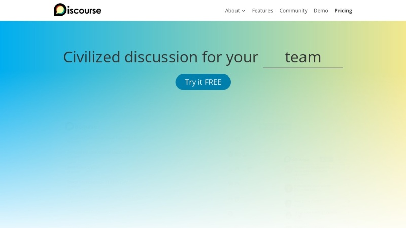Screenshot von www.discourse.org
