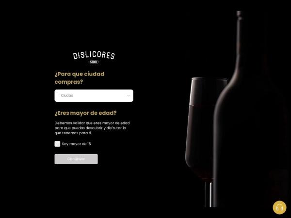 Captura de pantalla de www.dislicores.com