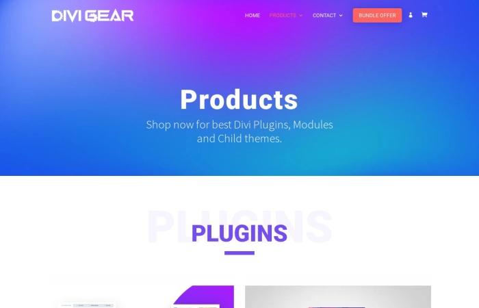 Screenshot of www.divigear.com