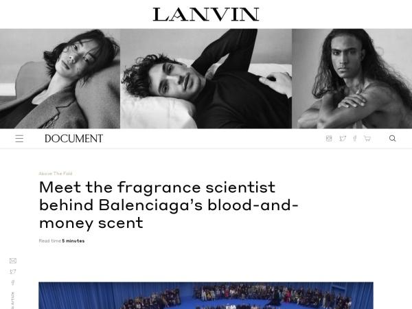 Screenshot of www.documentjournal.com