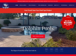 Screenshot of www.dolphinpools.us