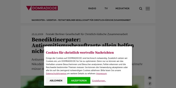 Screenshot of www.domradio.de