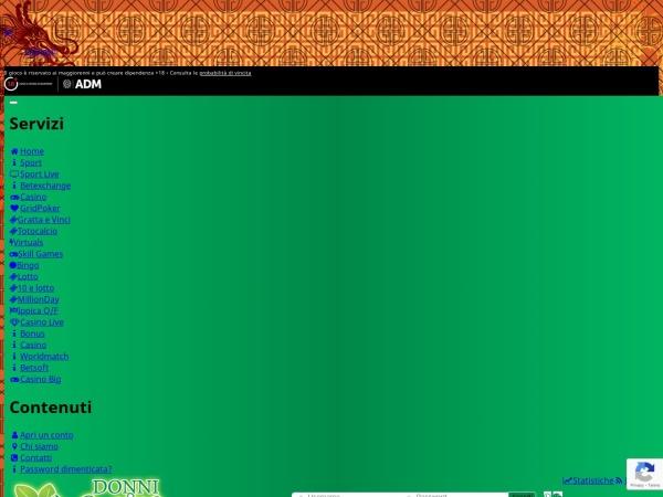 Screenshot of www.donnicasino.it