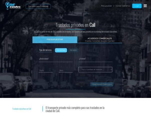 Captura de pantalla de www.dottransfers.com