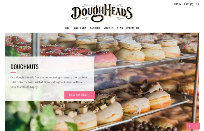 Screenshot of www.doughheads.com.au