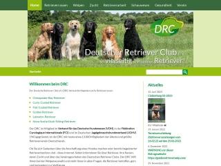 Screenshot von www.drc.de