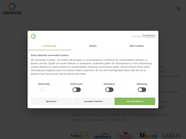 Screenshot of www.dreikon.de