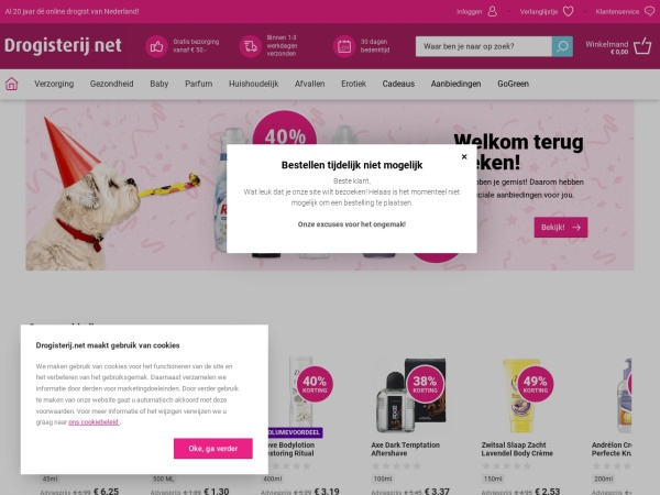 Screenshot of www.drogisterij.net