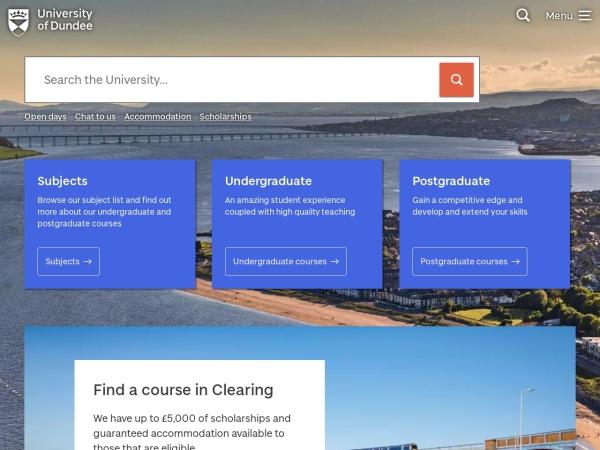 Screenshot of www.dundee.ac.uk
