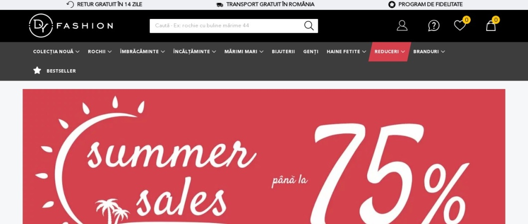 Screenshot of www.dyfashion.ro