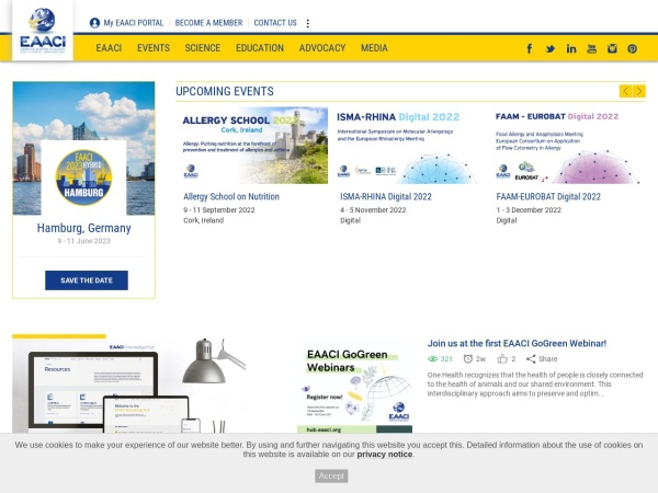 Screenshot of www.eaaci.org