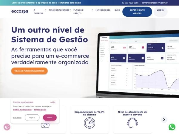 Screenshot of www.eccosys.com.br