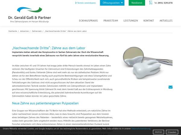 Screenshot von www.eckhauspraxis.de