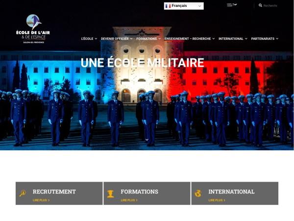 Screenshot of www.ecole-air-espace.fr