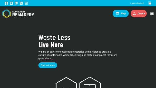 Screenshot of www.edinburghremakery.org.uk
