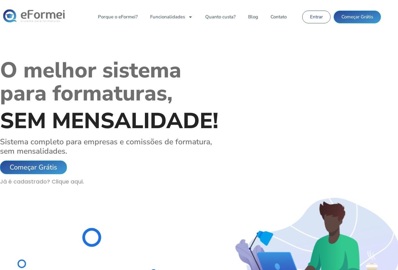 Screenshot of www.eformei.com.br