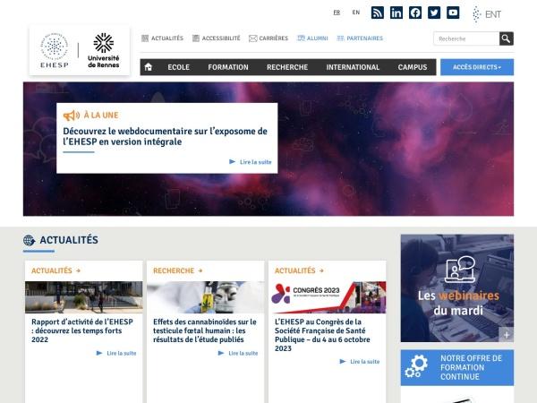 Screenshot of www.ehesp.fr