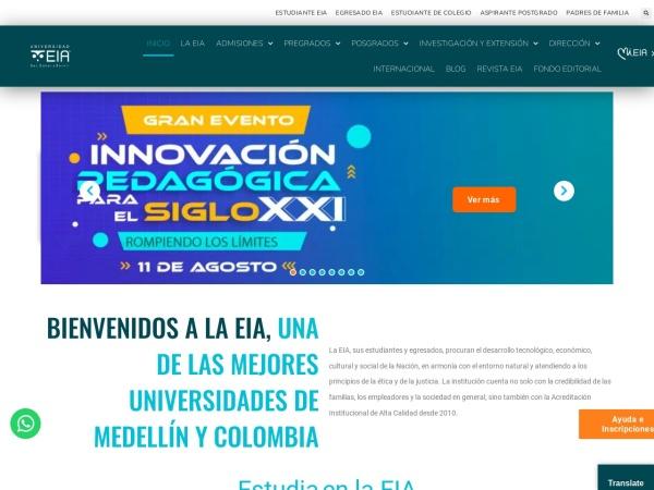 Screenshot of www.eia.edu.co