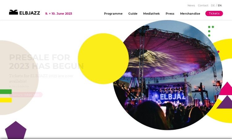 Screenshot von www.elbjazz.de