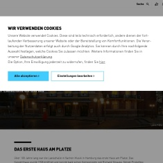Screenshot of www.elbphilharmonie.de
