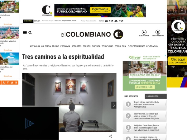 Captura de pantalla de www.elcolombiano.com