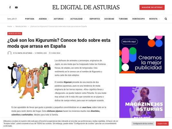 Captura de pantalla de www.eldigitaldeasturias.com