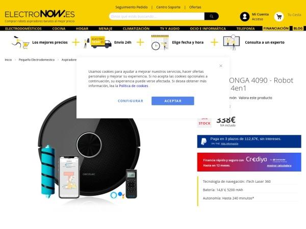 Captura de pantalla de www.electronow.es