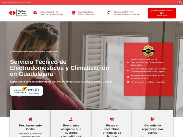 Captura de pantalla de www.electroyclima.es