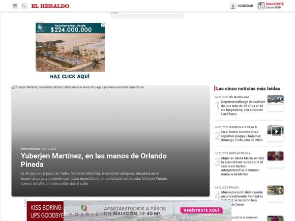 Captura de pantalla de www.elheraldo.co