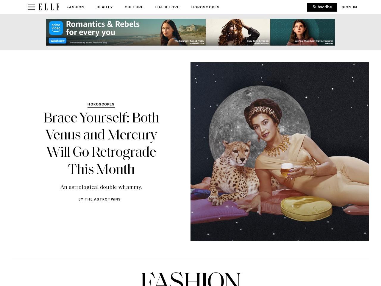 Captura de pantalla de www.elle.com
