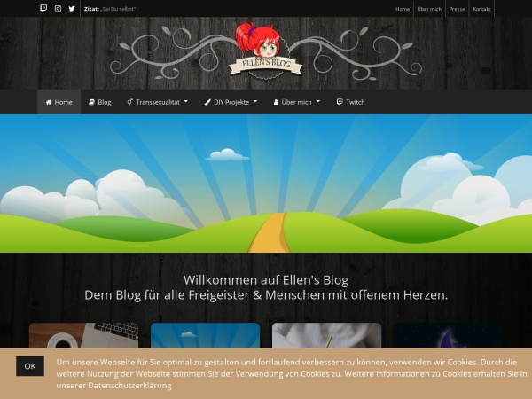 Screenshot of www.ellens-blog.de
