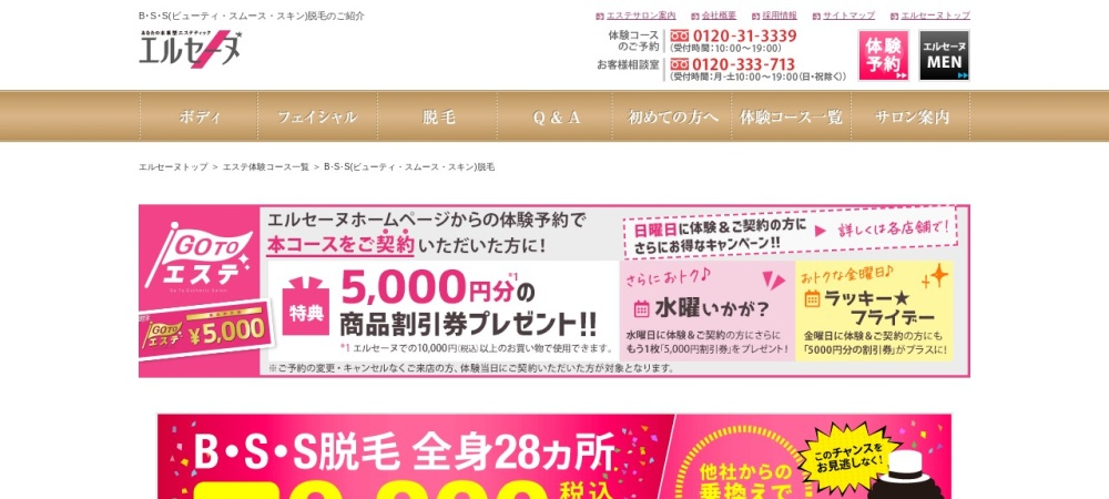 Screenshot of www.elleseine.co.jp