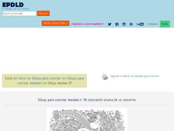 Captura de pantalla de www.elparquedelosdibujos.com