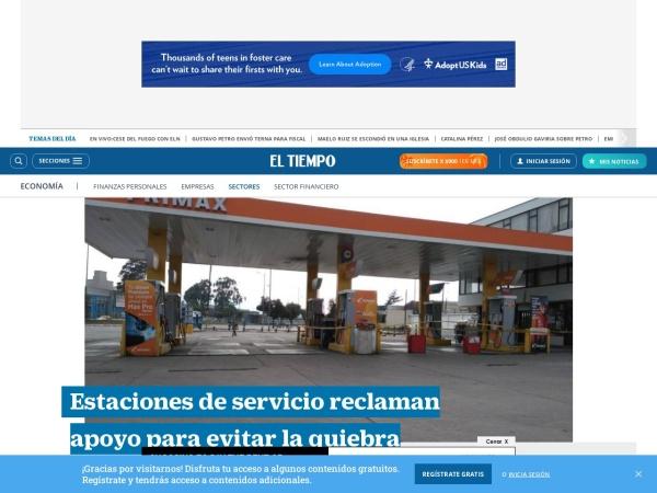 Captura de pantalla de www.eltiempo.com