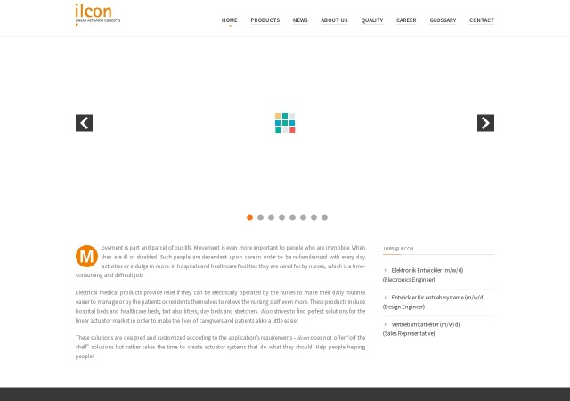 Screenshot of www.en.ilcon.com