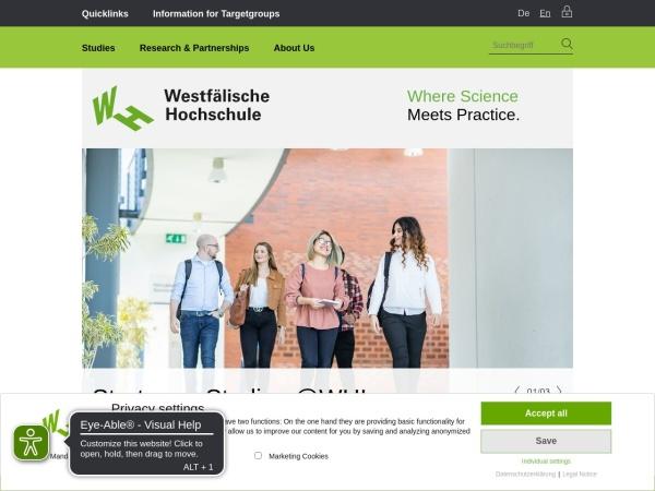 Screenshot of www.en.w-hs.de