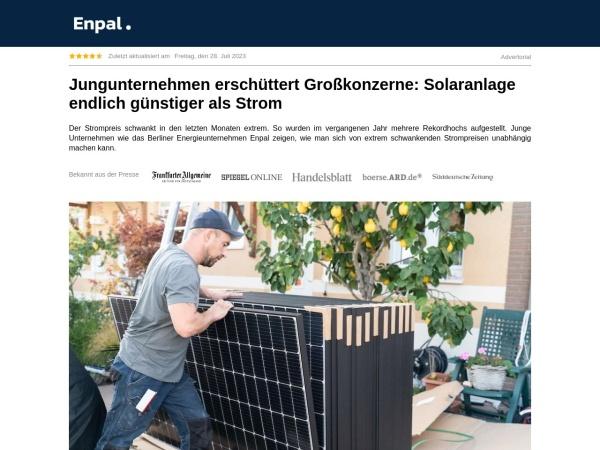 Screenshot von www.enpal.de