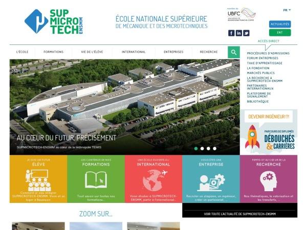 Screenshot of www.ens2m.fr