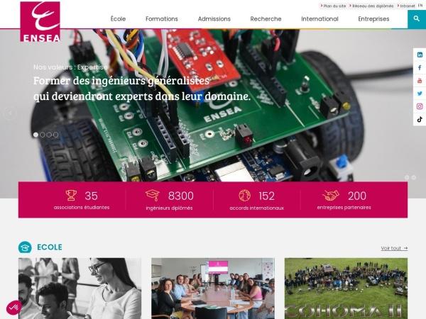 Screenshot of www.ensea.fr
